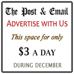 Advertise Here for $3 a day in December