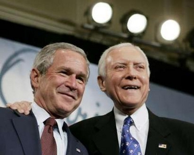 George Bush and Orrin Hatch