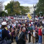 Bachmann leads storm of citizenry on Capital steps