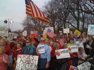 Tea-partiers at the Code Red Rally in D.C., Dec. 16, 2009.