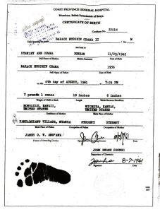 The only signed document purporting to be Obama's birth certificate, was obtained by an American Citizen who traveled to Mombasa, Kenya. Click the image to read his affidavit.
