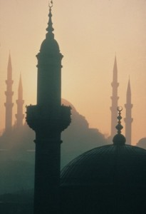 The Minarets of Istanbul rise over the once Christian capital of Constantinople