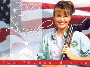 The 2009 Sarah Palin Calendar emphasized her all-American qualities