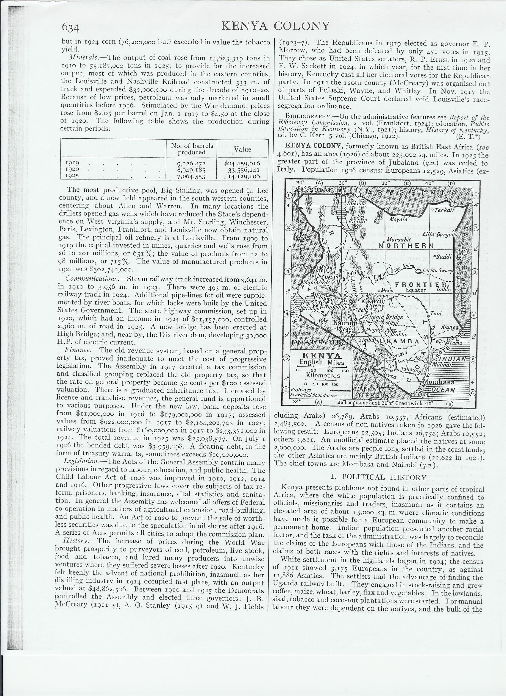 Kenya Colony page 654