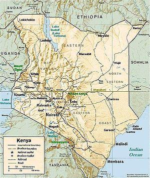 Kenya Relief Map