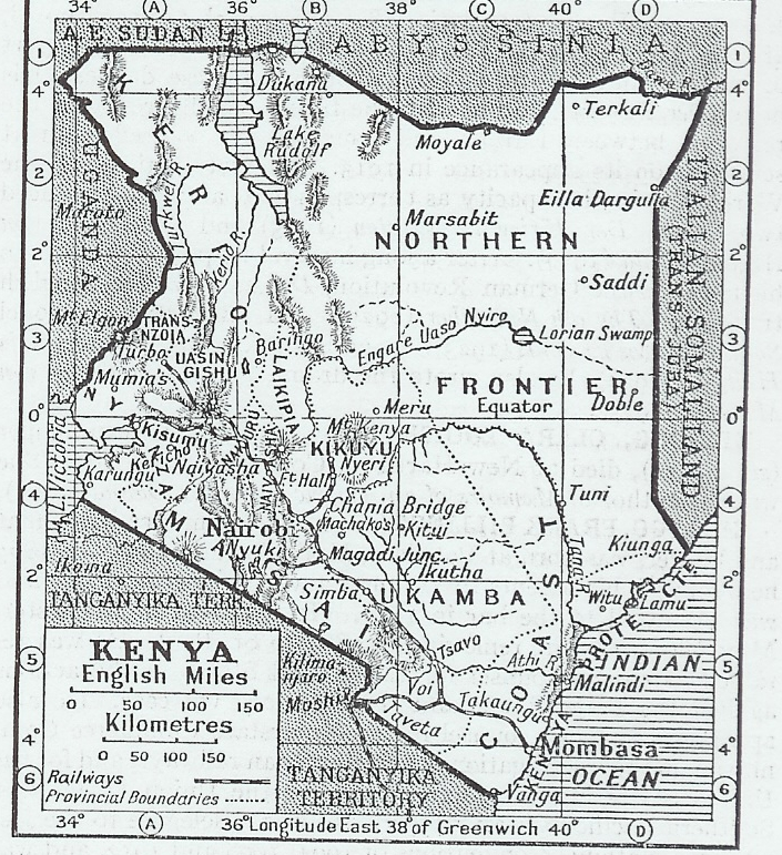 Lucas Smith Map of Kenya