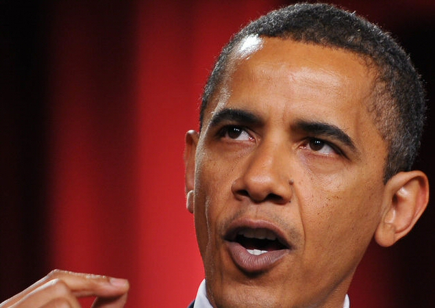 Obama opening mouth