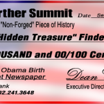 Birther Summit Doubles Hawaiian Newspaper Offer to $10,000, and Will Be in Honolulu to Support Orly Taitz on September 14