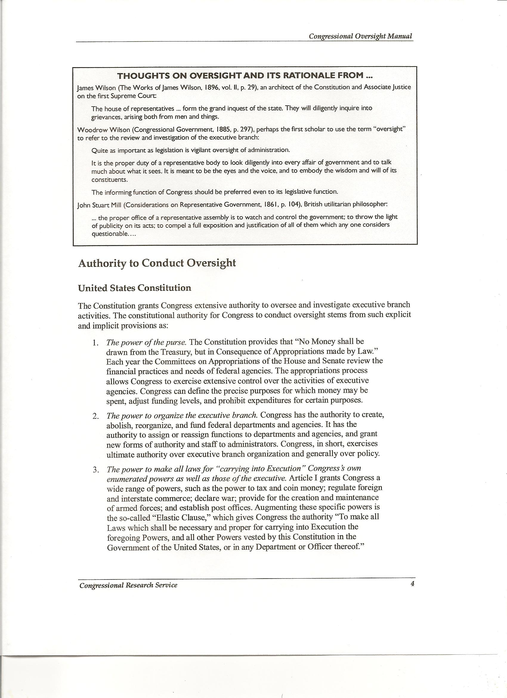 Page 4 Congressional Oversight Manual 001