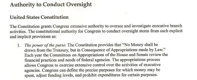 Page 4 Congressional Oversight Manual A