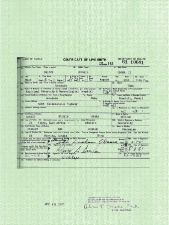 Was the Format of Hawaii Birth Certificates Changed…
