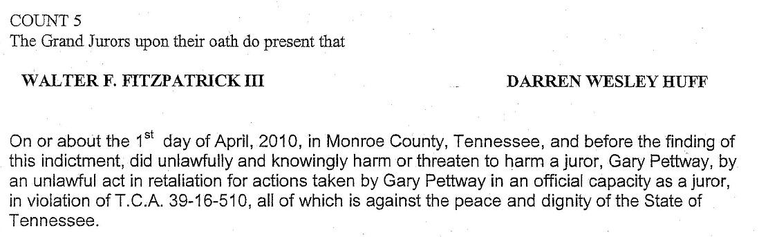 Fitzpatrick Indictment June 3 2010 juror statement