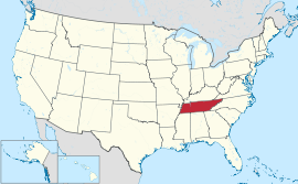 Tennessee USA Map