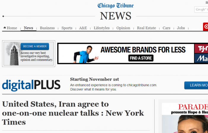 Breaking:  Mainstream News Reports Talks Scheduled Between US and Iran; White House Then Denies Story