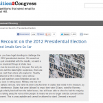 Breaking:  Petition to Congress Demands Recount of 2012 Presidential Election