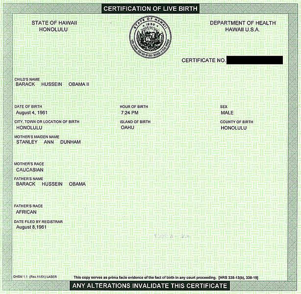 Mainstream Newspaper Reports but Misinforms on Obama Birth Certificate pb