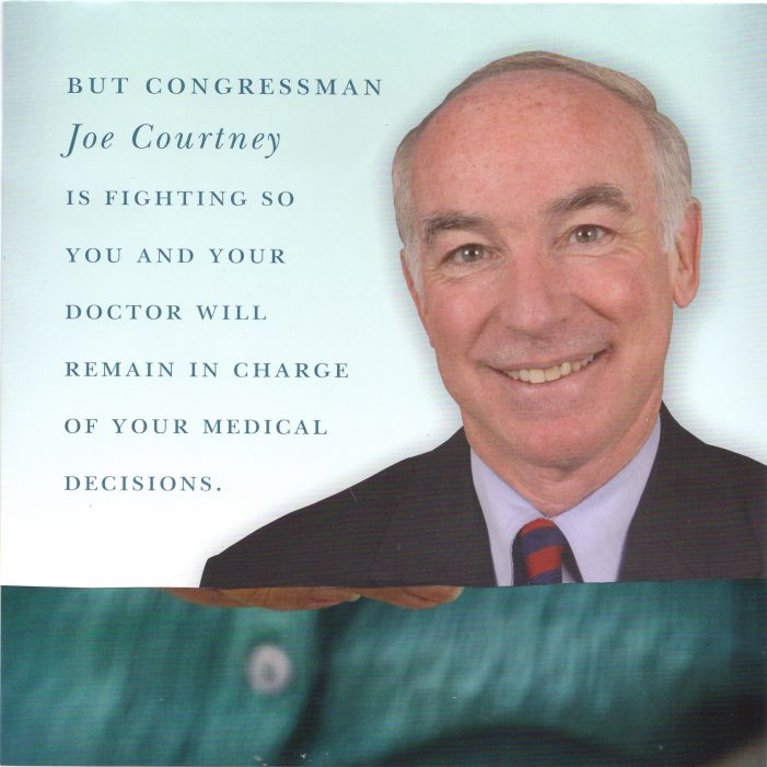 "Hypocrisy Alert:  Rep. Joe Courtney Supports Obamacare but Claims to Oppose ""Death Panel"" Board"