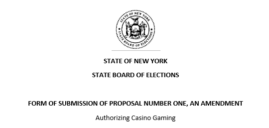 Constitutional Amendments Proposed in New York State