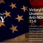 Victory! New York Capitol Unanimously Passes Anti-NDAA Resolution