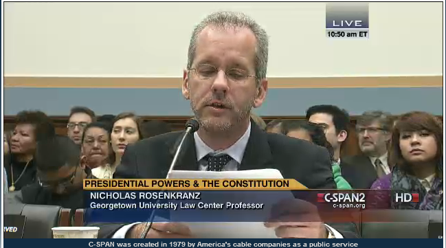 Breaking:  Congressional Hearing Taking Place on Presidential Power
