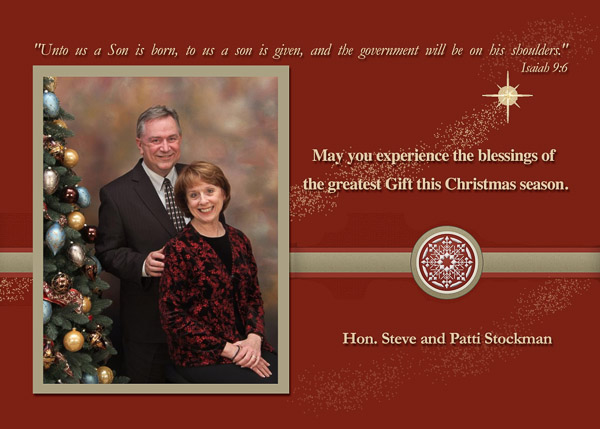 A Christmas Message from Steve and Patti Stockman