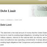 What IF the Debt Limit WAS Zero?