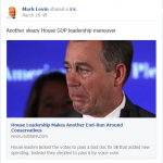 Mark Levin Facebook Page Administrator Bans Comments on Arpaio Obama Criminal Investigation