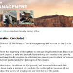 "Breaking:  BLM Will Stop ""Cattle Gather"" Against Nevada Rancher"