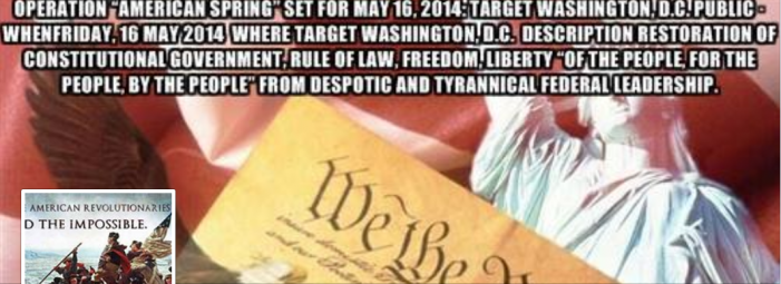Operation American Spring – A Call to Constitutional Restoration and Prayer, not a Call To Arms
