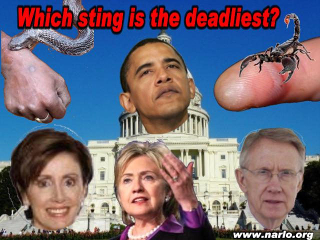 The Deadly Sting of Snakes, Scorpions and Democrats