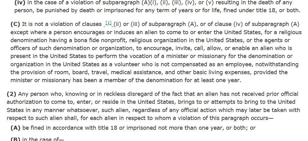 8 USC Section 1324 part 3