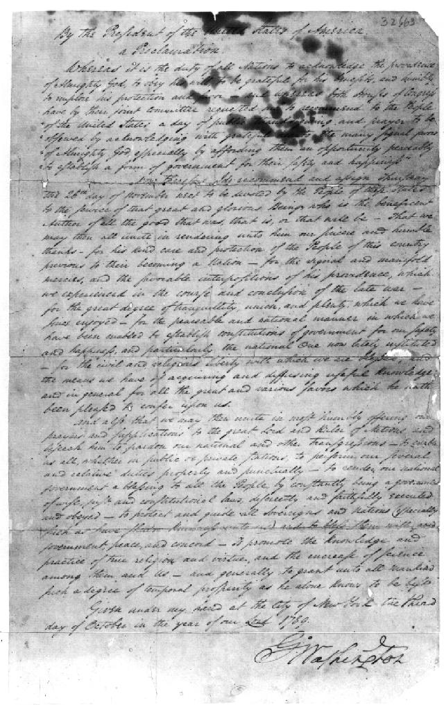 Early American Thanksgiving Proclamations