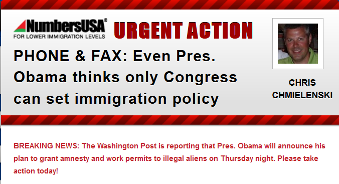 Breaking Report:  Obama's Amnesty to be Announced on Thursday