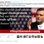 Ted Cruz Asks Why Obama Eases Way for Illegal Immigrants