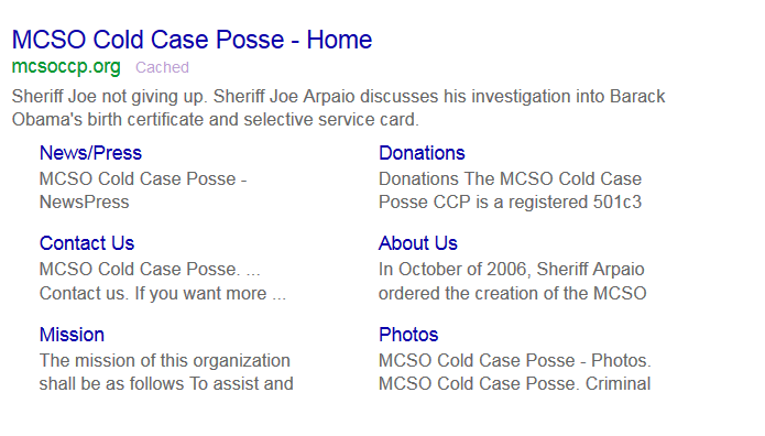 Cold Case Posse Website Remains Down