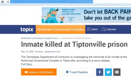 Tiptonville Topix