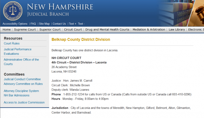 State of NH v William Baer – Case Dismissed