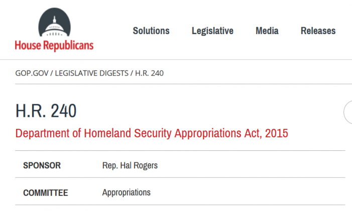 House Passes DHS Appropriations Bill and All Immigration Amendments