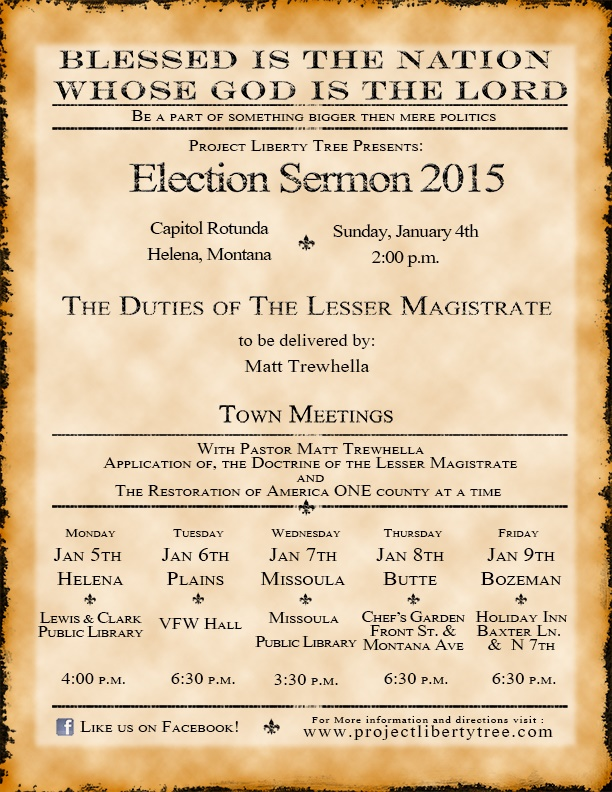 Election Sermon 2015, Helena, MT