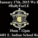 Pro Law Enforcement Rally To Take Place In Front Of Scottsdale Police Headquarters On January 17th