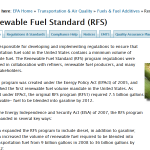 I Come to Bury Renewable Fuel Standards