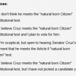 Conservative HQ Posts Survey on Ted Cruz's Constitutional Eligibility