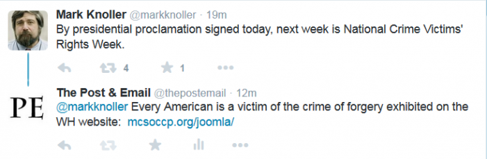 """Obama Proclaims """"National Victims' Rights Week"""""""