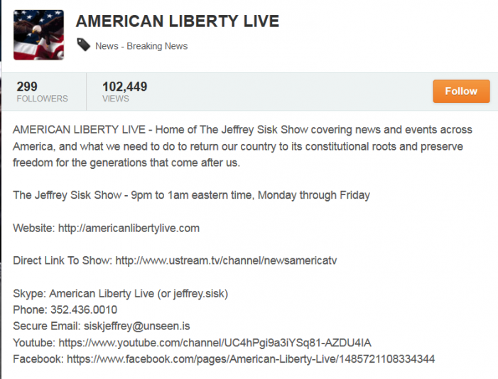 The Post & Email's Editor to Appear on American Liberty Live Radio on Wednesday Evening