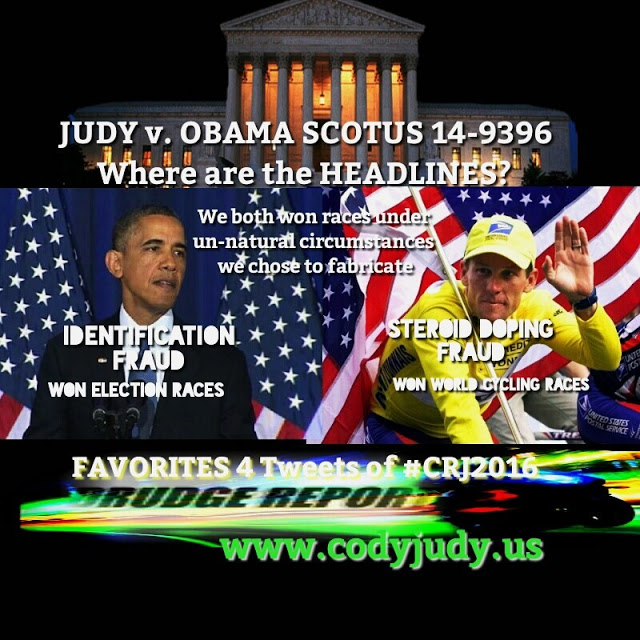 What is Drudge Saying?  Where Are the Headlines on SCOTUS Judy v. Obama 14-9396?