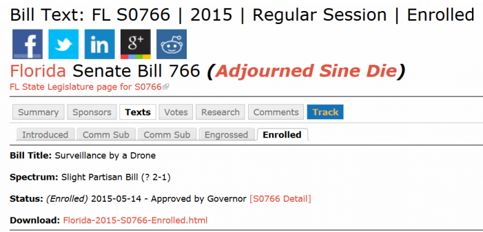 Signed into Law: Florida Bill Expands Limits on Drone Surveillance