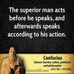I Act, Then I Speak…