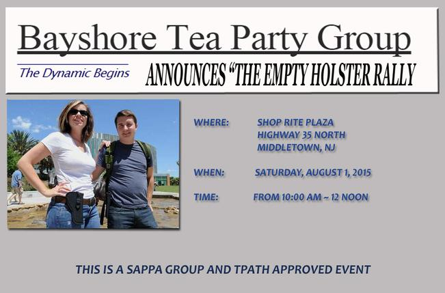 """Bayshore Tea Party Group Announces """"The Empty Holster Rally"""""""
