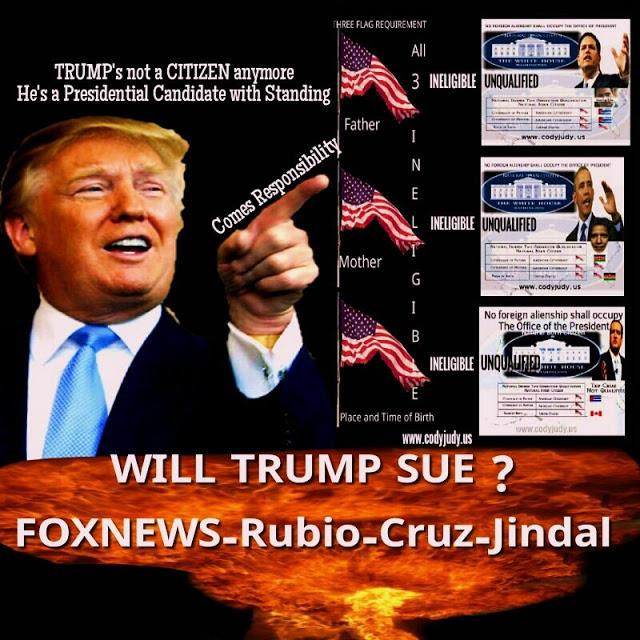 Will Trump Sue?  Fox News-Rubio-Jindal-Cruz in the Crosshairs