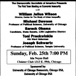 Barack Obama Was Guest Speaker at 1996 Event Sponsored by Democratic Socialists of America